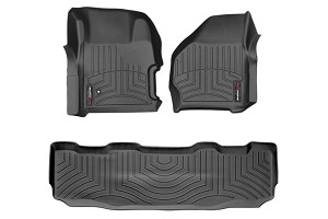 WeatherTech Superduty Super Crew w/ Front & Rear Floor Liner Set With 4x4 Floor Shifter (1999-2007)
