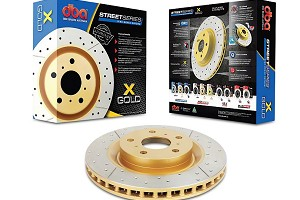 DBA Mustang Street Series Drilled & Slotted Rear Rotor (15-17 EcoBoost PP/GT)