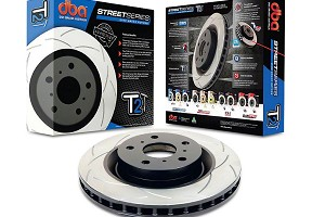 DBA Mustang Base/EcoBoost/PP/GT Street Series T2 Slotted Rear Rotor (2015-2020)