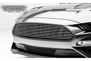 T-Rex Grilles Mustang GT - Billet Grille - Main, Overlay with Black Powder Coated Finish and Polished Face (2018+)