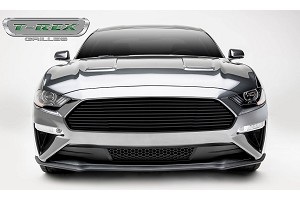 T-Rex Grilles Mustang GT - Billet Grille - Main, Overlay with Black Powder Coated Finish