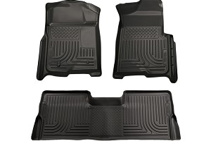 Husky Liners  WeatherBeater Combo Black Floor Liners (08-10 SuperCrew F-250 / F-350 / F-450 Automatic)