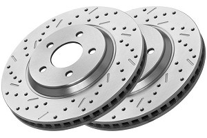 Xtreme Stop Focus Front Pair Drilled & Slotted Rotors (08-11 All)