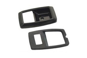 Scott Drake Mustang Interior Door Bezels - Black (79-93)