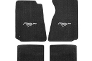 Lloyd Mats Mustang Grey Floor Mats w/ Pony Logo (94-04 Coupe/99-04 Convertible)
