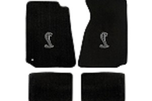 Lloyd Mats Mustang Black Floor Mats w/ Cobra Logo (94-04 Coupe/99-04 Convertible)