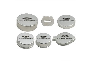 Ford Performance S550 Mustang Billet Aluminum Laser Engraved Engine Compartment Cap Cover Set
