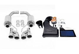 Steeda S550 Axle-Back Exhaust and ProFlow Closed Air Intake (2015-2019)