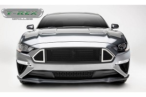 T-Rex Grilles Mustang DJ Series Main Grille insert Black with Stainless Accent Trim (2018+)