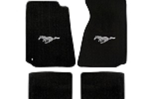 Lloyd Mats Mustang Black Floor Mats w/ Pony Logo (94-04 Coupe/99-04 Convertible)