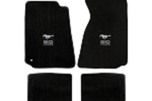 Lloyd Mats Mustang Black Floor Mats w/ 50 Years Logo (94-04 Coupe/99-04 Convertible)