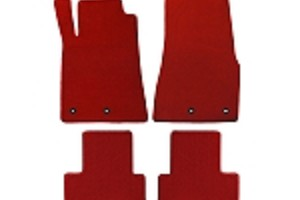 Lloyd Mats Mustang Red Floor Mats - Front and Rear (11-12 All)