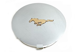 Scott Drake Mustang Wheel Center Cap Chrome Plated With Gold Running Horse Logo (91-93)