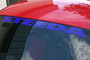Steeda Windshield Decal - Blue