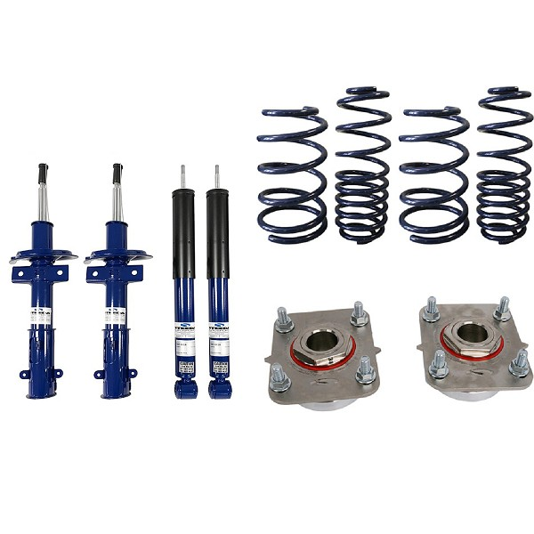 Steeda Pro-Action Mustang Ultra-Lite Lowering Spring/Shock/Strut Mount Package (2011-2014)